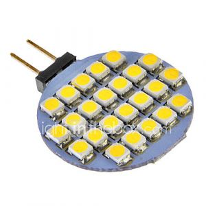 G4 3W 24x3528SMD 72LM 6000-7000K Cool White Light Bulb LED pour la voiture (12V DC)