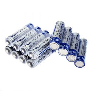 Piles Rechargeables AA (BTY - Ni-MH - 2500mAh - 1.2V - 12 Pièces)