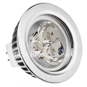 MR16 3W 210-250LM 2700-3500K lumière blanche chaude Ampoule LED Spot (12V)
