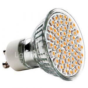 Ampoule Spot LED à Lumière Blanche Chaude, GU10 GU10 2.5W 60x3528SMD 240LM 2700K (220-240V)