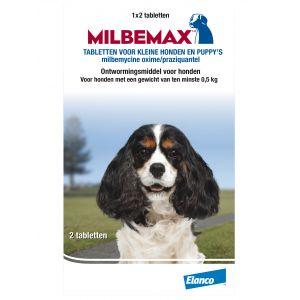 Milbemax Vermifuge Small pour chien et chiot 2 Comprimés