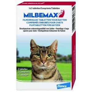Milbemax Vermifuge pour chat adulte 2 Comprimés