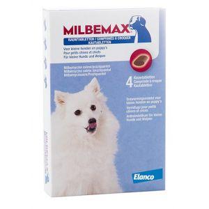 Milbemax Vermifuge À Croquer Small pour chien et chiot 4 Comprimés