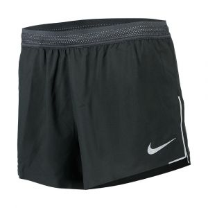 Pantalons Nike Aero Swift Short 4in - Black / Wolf Grey / Wolf Grey - Taille XL