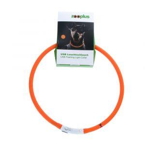 Collier lumineux orange USB 65cm - Collier lumineux pour chien