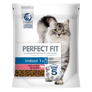 PERFECT FIT Indoor 1+ Riche en bœuf pour chat - 750 g