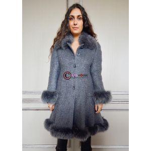 Manteau gris GABRIELA Renard