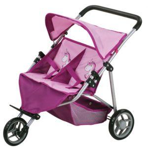 knorr® toys Poussette double pour poupée Duo - Uma la licorne