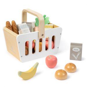 MUSTERKIND® Panier de courses enfant Carum bois blanc/naturel/multicolore