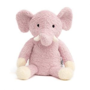 natureZoo of Denmark Peluche éléphant rose