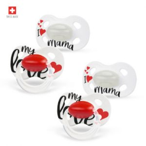 Medela Baby Day & Night 0-6 mois DUO Sig nature 4 pièces en blanc, rouge