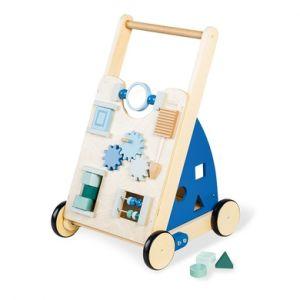 Pinolino Chariot enfant d'activités Titus bois, bleu