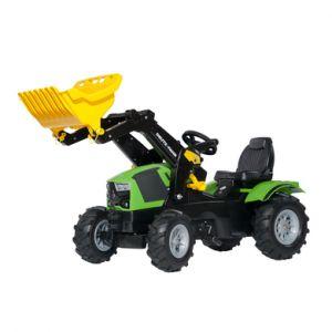 ROLLY TOYS Farmtrac Tracteur à pédales avec pelle Deutz 5120, pneus gonflables