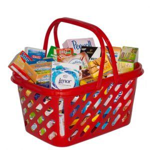 Tanner - Panier de courses enfant tendance garni Le petit marchand rouge