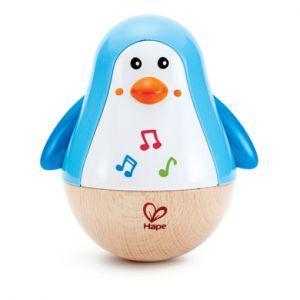 Hape Jouet musical Pingouin Culbuto bleu