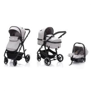 fill Poussette trio combinée Panther mélange gris clair 2020