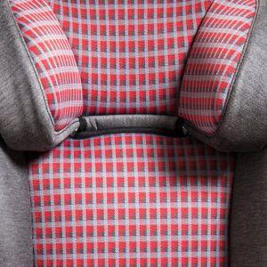 Baier  Housse siège auto réversible carreaux gris/rouge