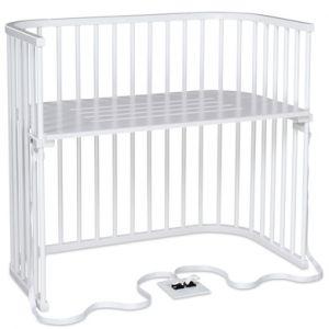babybay Lit cododo Boxspring XXL hêtre blanc 110x62x96,5 cm