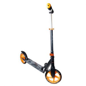 Authentic Sports  Trottinette enfant Muuwmi alu, noir/orange, 200 mm