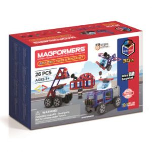 MAGFORMERS® Jeu magnétique Amazing Police & Rescue 26 pièces
