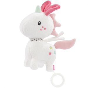 Babysun Peluche musicale licorne Aiko & Yuki blanc