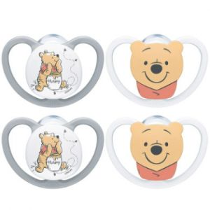 NUK Mannequins Space Disney Winnie l'ourson Gr. 1, 0 - 6 mois 4 pièces
