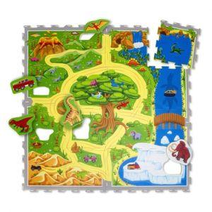 Hakuna Matte Puzzle Mat - Dinosaure safari (120 x 120 cm)
