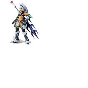 Monster Hunter X figurine Vulcanlog Monhan Revo Hunter Swordswoman Kirin U Series 16 cm