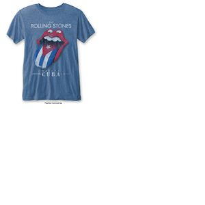 T-shirt The Rolling Stones: Havana Cuba with Burn Out Finishing