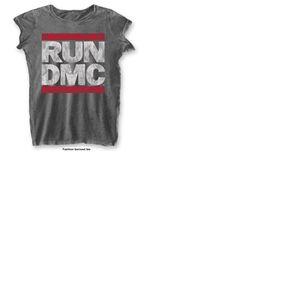 T-shirt Run DMC: DMC Logo with Burn Out Finishing