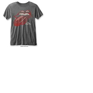 T-shirt The Rolling Stones: Vintage Tongue with Burn Out Finishing