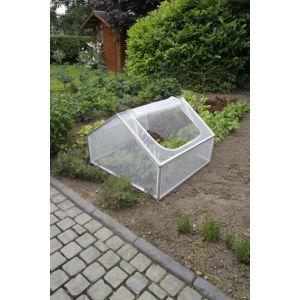 Serre de Jardin Blanche 35/68cm - 100 x 100 cm - Nature