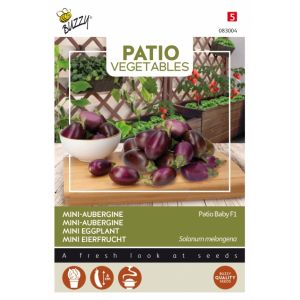 Mini-Aubergine Patio Baby F1 - Buzzy Patio Vegetables