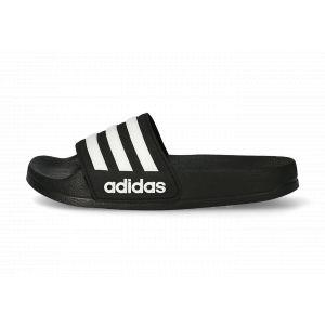 adidas Sandales Adilette Shower Noires Et Blanches Enfant Enfant 32