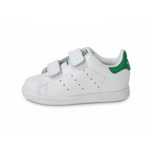 adidas Stan Smith Bébé Blanche à Scratch  Tennis
