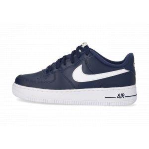 Nike Enfant Air Force 1 Bleu Marine Et Blanche Junior Baskets