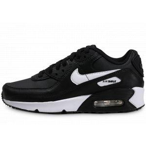 Nike Enfant Air Max 90 Leather Noir Blanc Junior Running