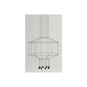 Suspension Wireflow /  Ø 120 cm x H 62,5 cm - Vibia noir en tissu