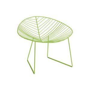Chaise Leaf / Métal - Arper vert en métal