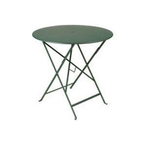 Table pliante Bistro / Ø 77cm - Trou pour parasol - Fermob cèdre en métal