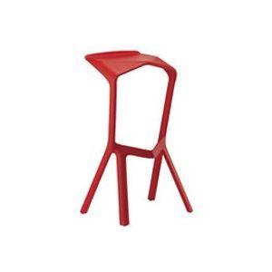 Tabouret de bar Miura / H 78 cm - Plastique - Plank rouge en matière plastique