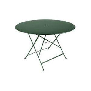 Table pliante Bistro / Ø 117 cm - 6/8 personnes - Trou parasol - Fermob cèdre en métal
