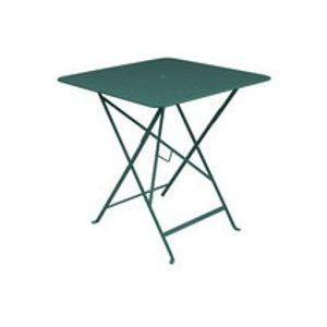 Table pliante Bistro / 71 x 71 cm - Trou pour parasol - Fermob cèdre en métal