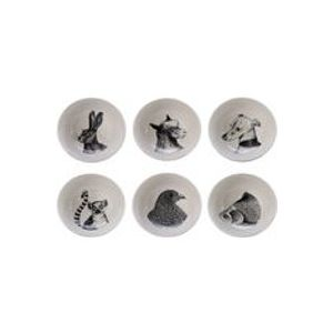 Bol Animals / Set de 6 - Porcelaine - Pols Potten blanc,noir en céramique
