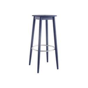 Tabouret de bar Oto / H 65 cm - Bois - Ondarreta bleu en bois
