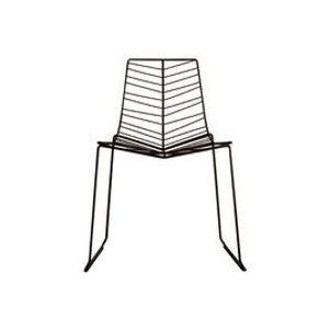Chaise empilable Leaf / Métal - Arper moka en métal