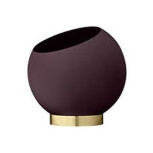 Coupe Globe / Ø 17 cm - Métal - AYTM or,bordeaux en métal