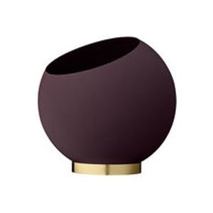 Coupe Globe / Ø 30 cm - Métal - AYTM or,bordeaux en métal