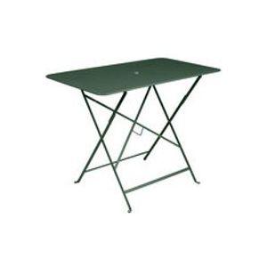 Table pliante Bistro / 97 x 57 cm - 4 personnes - Trou parasol - Fermob cèdre en métal