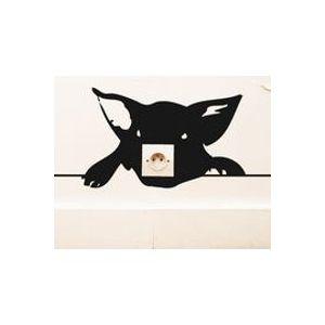 Sticker Zoo Cochon - Domestic noir en matière plastique